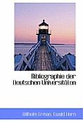Bibliographie Der Deutschen Universit Ten