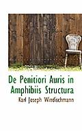 de Penitiori Auris in Amphibiis Structura