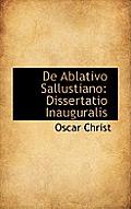 de Ablativo Sallustiano: Dissertatio Inauguralis