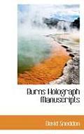 Burns Holograph Manuscripts