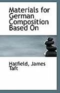 Materials for German Composition Based on