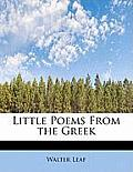 Little Poems from the Greek
