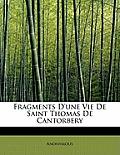 Fragments D'Une Vie de Saint Thomas de Cantorbery