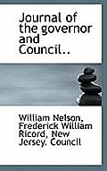 Journal of the Governor and Council..