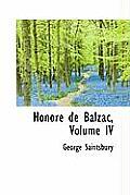 Honore de Balzac, Volume IV