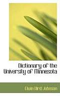 Dictionary of the University of Minnesota