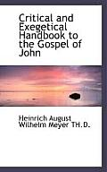 Critical and Exegetical Handbook to the Gospel of John