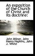 An Exposition of the Church of Christ and Its Doctrine