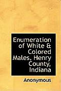 Enumeration of White & Colored Males, Henry County, Indiana