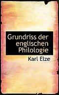 Grundriss Der Englischen Philologie