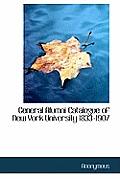 General Alumni Catalogue of New York University 1833-1907