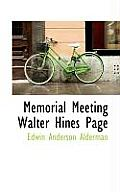 Memorial Meeting Walter Hines Page