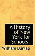 A History of New York for Schools.