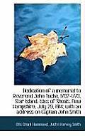 Dedication of a Memorial to Reverend John Tucke, 1702-1773, Star Island, Isles of Shoals, New Hampsh