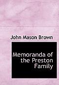Memoranda of the Preston Family