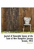 Journal of Honorable Senate of the State of New Hampshire January Session, 1913