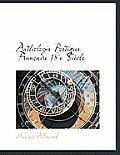 Anthologie Poetique Francaise 18e Siecle