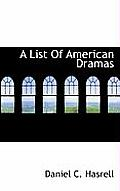 A List of American Dramas
