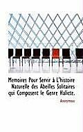M Moires Pour Servir L'Histoire Naturelle Des Abeilles Solitaires Qui Composent Le Genre Halicte.