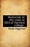 Memorials of the Class of 1833 of Harvard College.