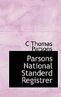 Parsons National Standerd Registrer