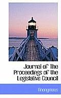 Journal of the Proceedings of the Legislative Council