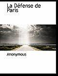 La D Fense de Paris
