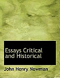 Essays Critical and Historical