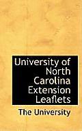 University of North Carolina Extension Leaflets