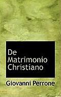 de Matrimonio Christiano