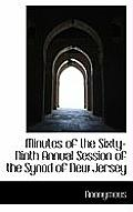 Minutes of the Sixty-Ninth Annual Session of the Synod of New Jersey