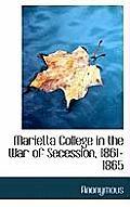 Marietta College in the War of Secession, 1861-1865