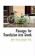 Passages for Translation Into Greek
