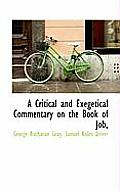 A Critical and Exegetical Commentary on the Book of Job,
