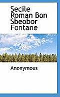 Secile Roman Bon Sbeobor Fontane