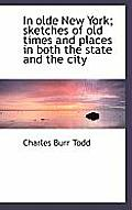 In Olde New York; Sketches of Old Times and Places in Both the State and the City