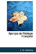 Aper Us de Philologie Fran Aise