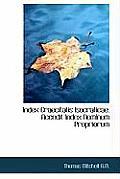 Index Graecitatis Isocraticae: Accedit Index Nominum Propriorum