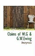 Claims of W.G & G.W.Ewing