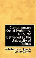 Contemporary Social Problems, a Course Delivered at the University of Padua;