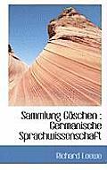 Sammlung Goschen: Germanische Sprachwissenschaft