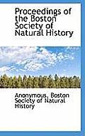 Proceedings of the Boston Society of Natural History