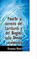 Postille AI Comenti del Lombardi E del Biagioli Sulla Divina Commedia
