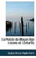 La Poesie Du Moyen Age Lecons Et Lectures