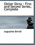 Obiter Dicta: First and Second Series, Complete