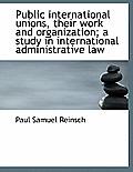 Public International Unions, Their Work and Organization; A Study in International Administrative La