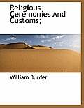 Religious Ceremonies and Customs;