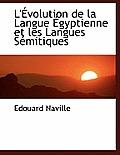 L' Volution de La Langue Gyptienne Et Les Langues S Mitiques