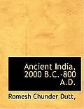 Ancient India, 2000 B.C.-800 A.D.