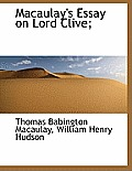 Macaulay's Essay on Lord Clive;